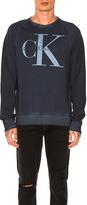 Calvin Klein Cool Wash Reissue Sweatshirt in Navy. - size L (also in M,S)