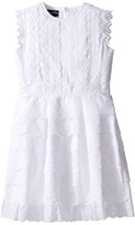 Oscar de la Renta Childrenswear - Cotton Eyelet Dress Girl's Dress