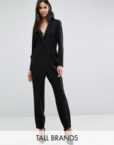 Y.A.S Tall Lukka Tailored Long Sleeve Wrap Front Jumpsuit