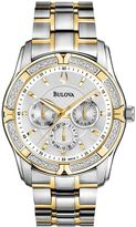 Bulova Men's Diamond Two Tone Stainless Steel Watch - 98E112