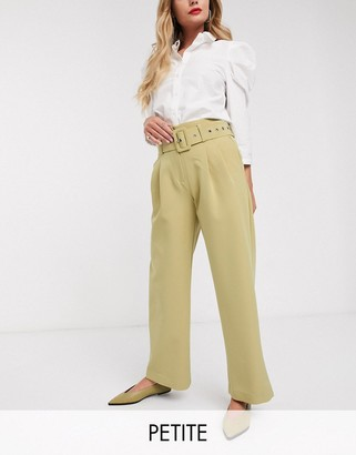 Y.A.S Dina high waisted belted pants