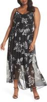 City Chic Mono Rose Maxi Dress
