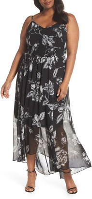 City Chic Mono Rose Maxi Dress
