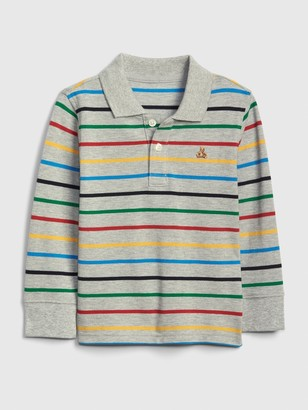 Gap Baby Brannan Bear Stripe Polo Shirt Shirt