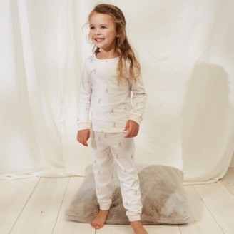 The White Company Stripe Dog Pyjamas (1-12yrs), White, 2-3yrs