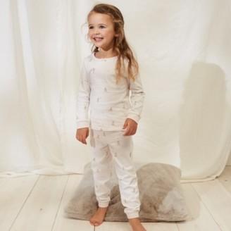 The White Company Stripe Dog Pyjamas (1-12yrs), White, 7-8yrs