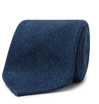 Rubinacci 8cm Melange Wool-Flannel Tie