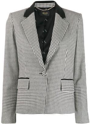Liu Jo check print blazer
