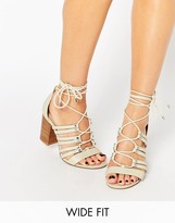 Asos TIA Wide Fit Lace Up Heeled Sandals