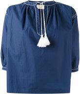 MAISON KITSUNÉ tassel blouse