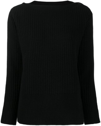 Calvin Klein Button Detail Ribbed Jumper