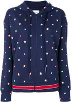 Iceberg star embroidered zipped hoodie