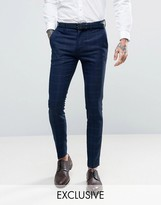 ONLY & SONS Super Skinny Suit Pants In Textured Check
