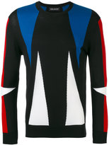 Neil Barrett tri-tone triangle sweater