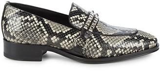 Giuseppe Zanotti Crocodile-Print Leather Loafers