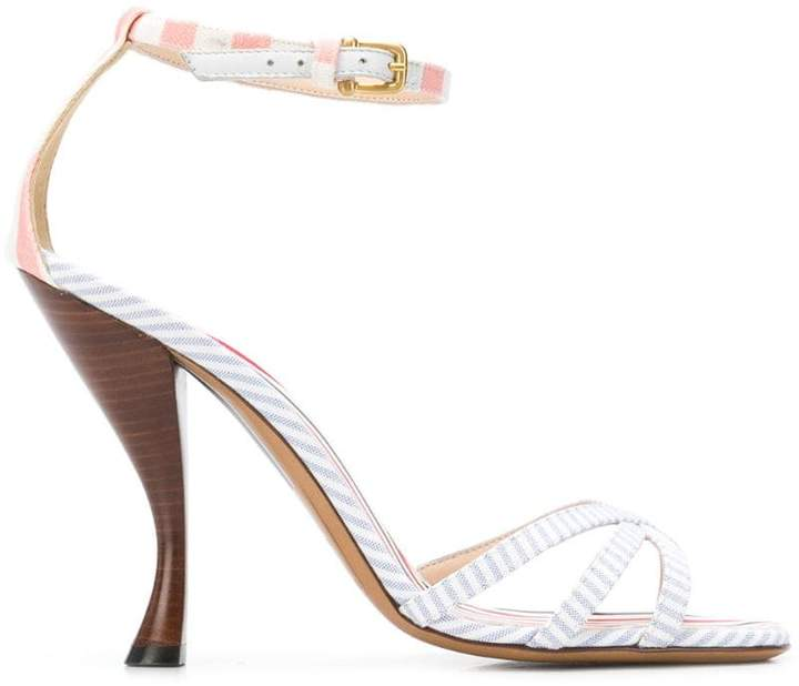 Thom Browne Striped High Curved-Heel Sandal