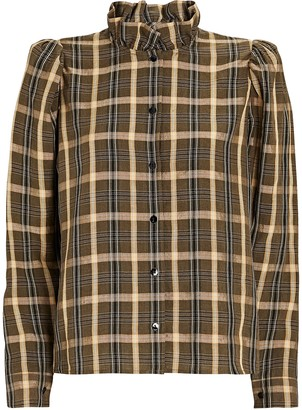 LES COYOTES DE PARIS Biba Plaid Button-Down Shirt