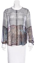 Preen Silk Printed Long Sleeve Blouse
