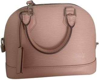 Louis Vuitton Alma BB Pink Leather Handbags