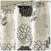 Asstd National Brand Summer Garden Black & White Shower Curtain