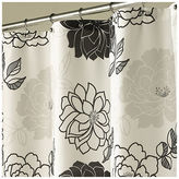 JCPenney Summer Garden Black & White Shower Curtain