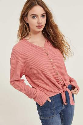 Ardene Knotted Sweater with Lace Back