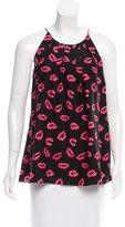 Milly Kiss Print Silk Top w/ Tags