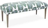 One Kings Lane Colette Bench - Green Ikat