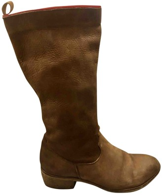 Non Signã© / Unsigned Brown Leather Boots