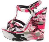 Christian Dior Camo Platform Wedges