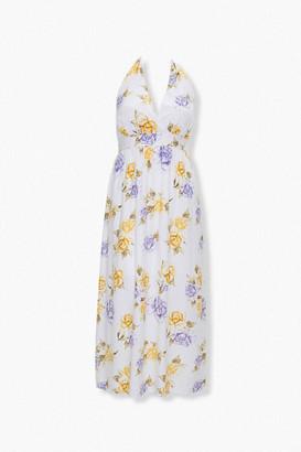 Forever 21 Plus Size Floral Print Halter Dress