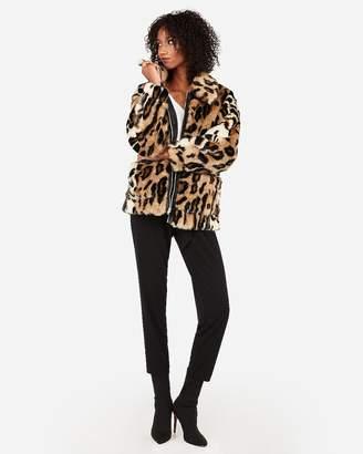 Express Oversized Faux Cheetah Fur Coat