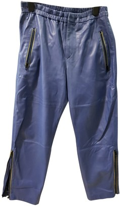 Isabel Marant Blue Leather Trousers