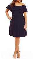 Eliza J Plus Off-the-Shoulder Knit Dress
