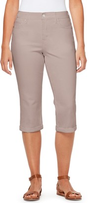 Gloria Vanderbilt Women's Cuffed Straight Leg Capri