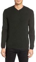 Zachary Prell Men's V-Neck Colorblock Merino Wool Pullover