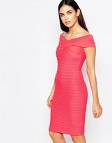 Lipsy Ribbed Bardot Bodycon Dress