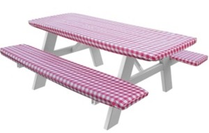 Violet Table Linens Violet Deluxe Checkered Gingham Pattern Tablecloth