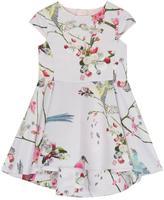 Ted Baker Girls' Light Pink Floral Print Dress