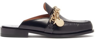 Givenchy Chain-embellished Leather Backless Loafers - Black