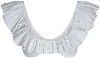 Caroline Constas Anastasia Ruffled Bikini Top