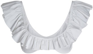 Caroline Constas Mer Anastasia Ruffled Bikini Top