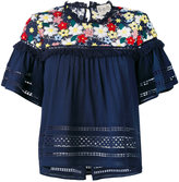 Sea flared floral top - women - Cotton/Polyester - 4