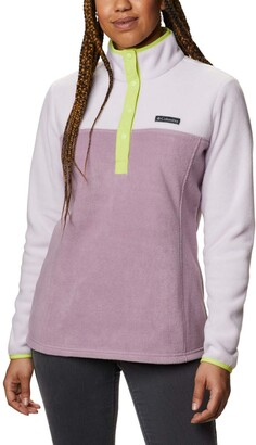 Columbia Womens Benton Springs 1/2 Snap Pullover Soft Fleece Jacket Classic Fit