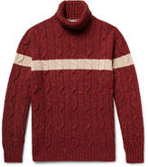 Brunello Cucinelli Cable-Knit Virgin Wool-Blend Rollneck Sweater