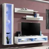 Orren Ellis Logue Floating Entertainment Center for TVs up to 70 inches Orren Ellis Color: White