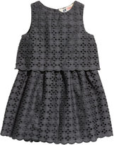 H&M Eyelet Embroidery Dress - Dark gray - Kids