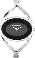 Ted Lapidus B0212RNNX Women's Watch Analogue Quartz Silver Metal Bracelet Black Dial