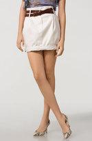 Belted Twist Hem Skirt