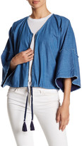 Fate 3/4 Dolman Sleeve Front Zip Shirt